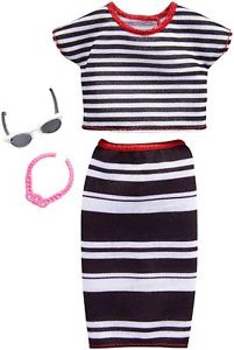 Barbie Outfit Rok + Shirt en Accessoires