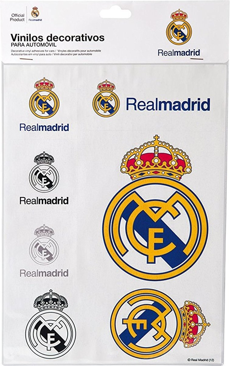 Sumex Stickerset Real Madrid Wit 15-delig