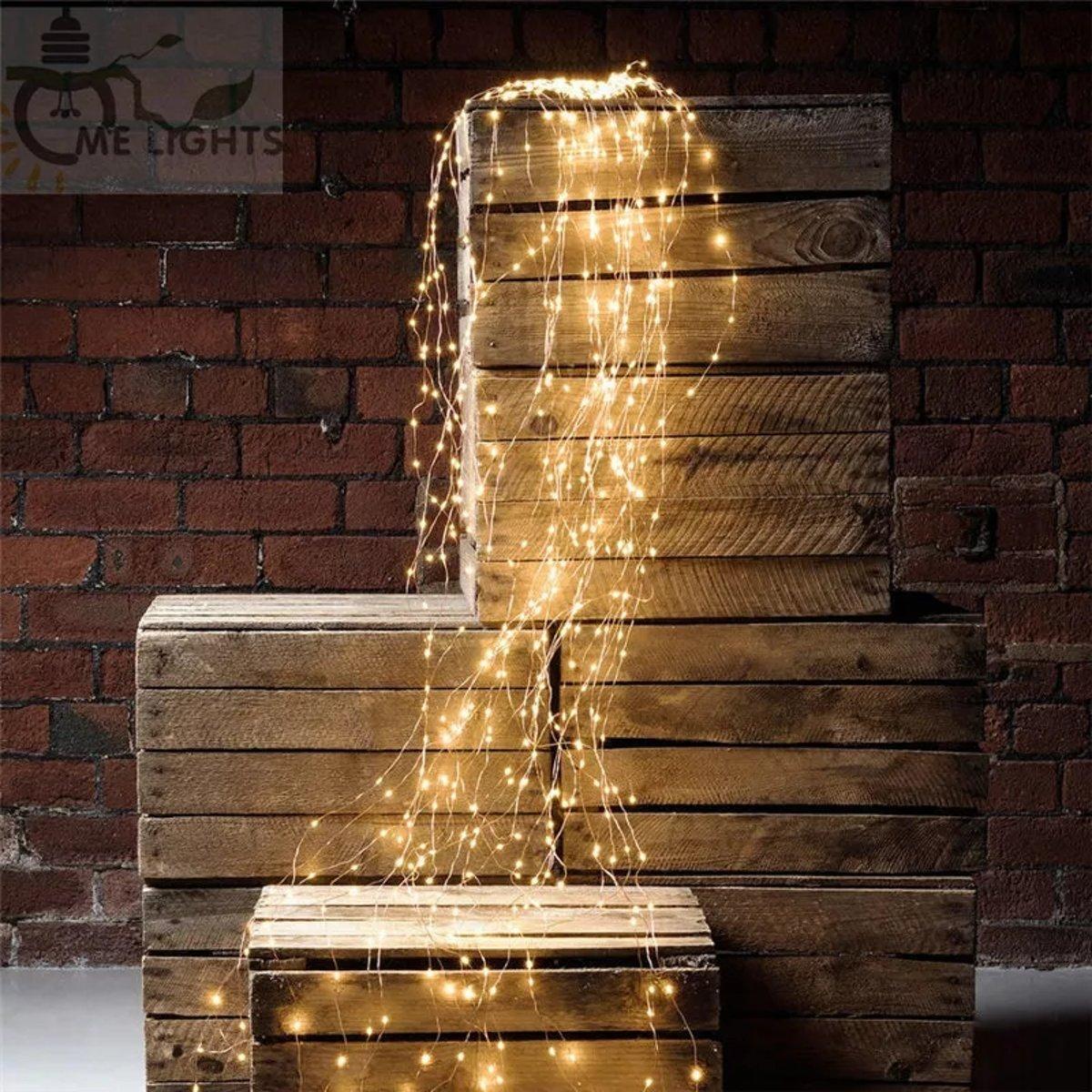 Led lampjes verlichtingsbundel - 10 strengen van 80 cm - Kerst versiering - Regen / ijs / waterval lichtjes - Fairy lights - Draadverlichting kopen