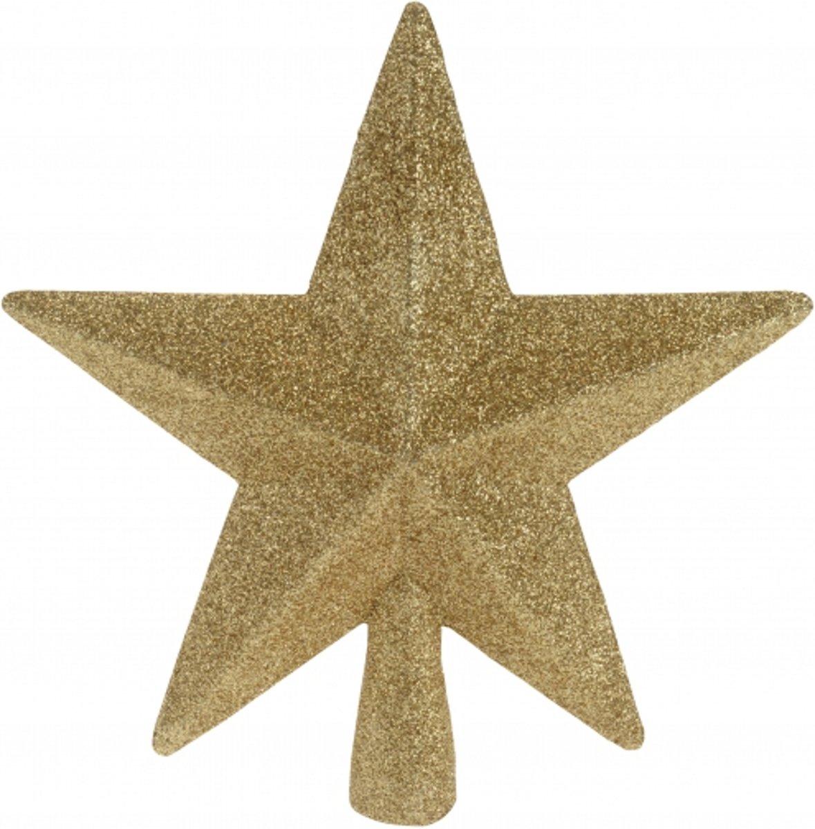 Piek ster goud met glitters 19 cm kopen