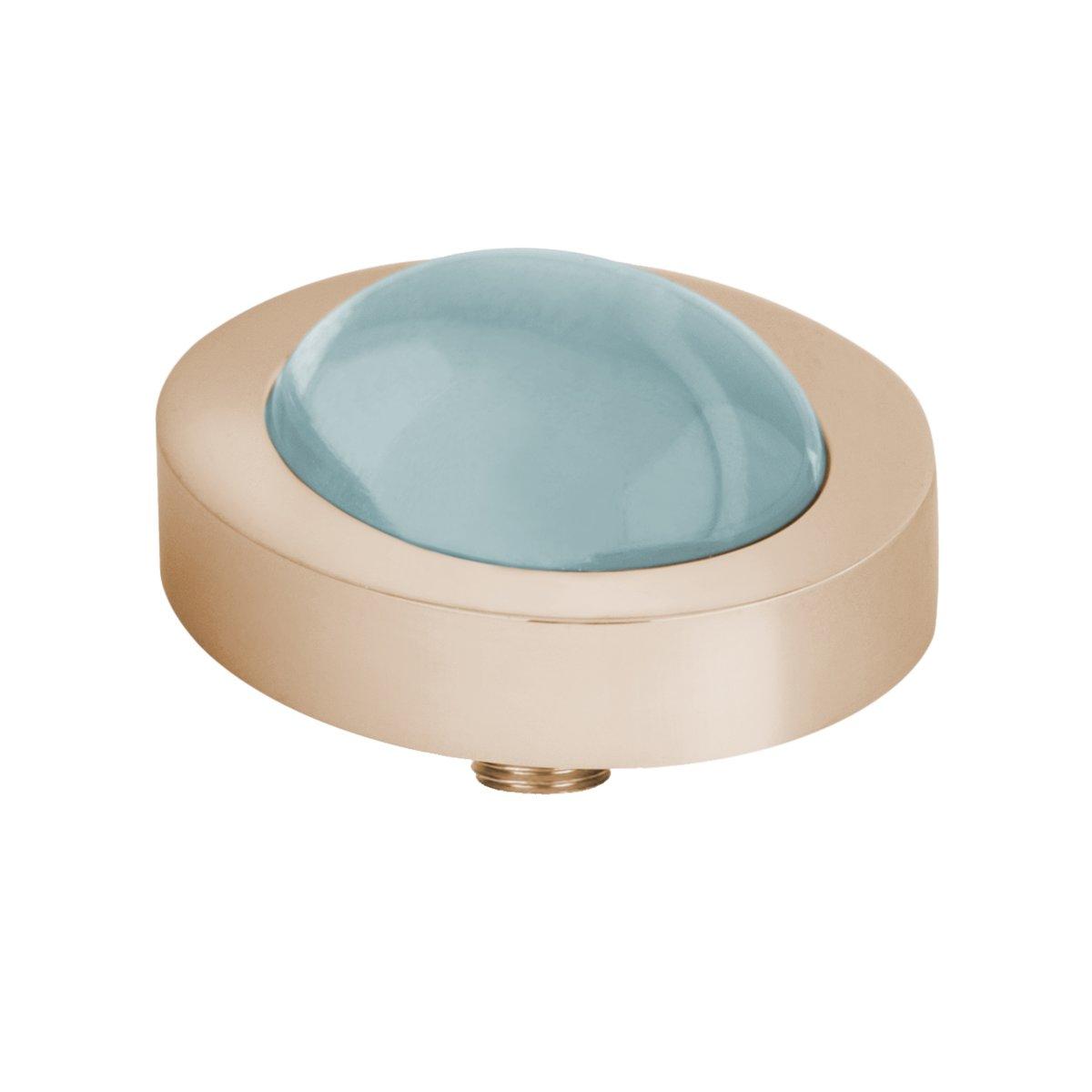 Melano vivid oval steentje - turquoise - dames - rosekleurig - 10 mm kopen