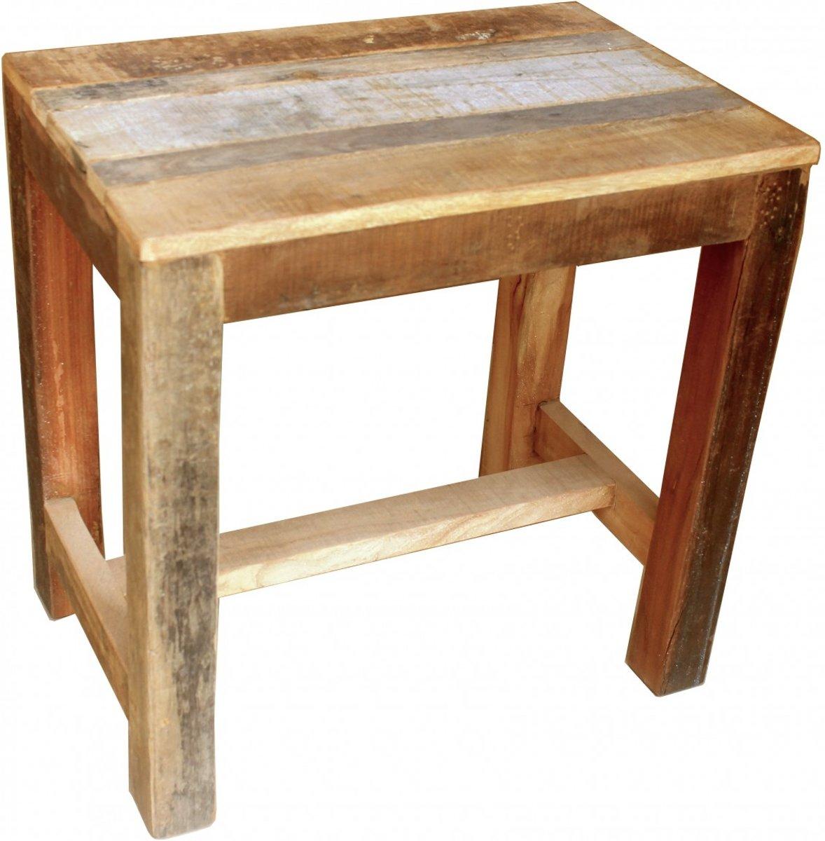 Otentic Design Sloophouten tafel/kruk naturel kopen