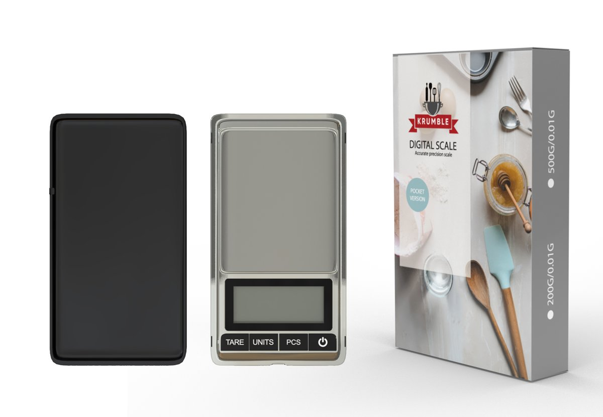 Digitale weegschaal 0.01 x 200 gram | Kleine keukenweegschaal | Precisie weegschaal | Grammen weegschaal | Mini weegschaal | Micro weegschaal
