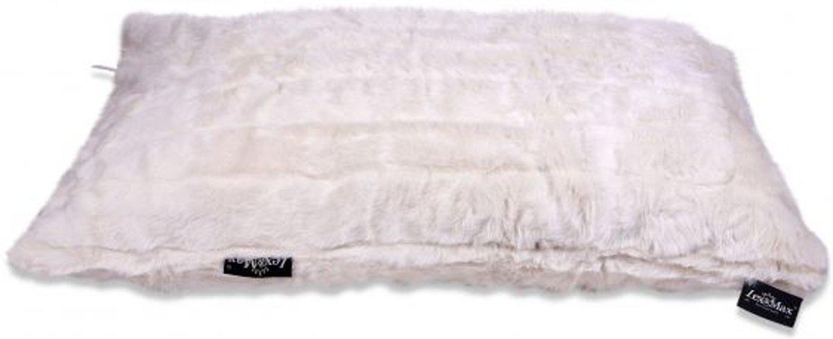 Lex & max royal fur funky metal kattenkussen  60x45cm wit
