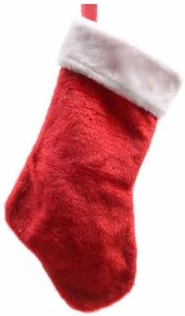 Rode pluche kerstsok 40 cm kopen