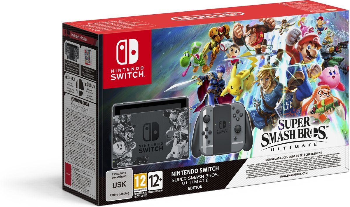 Nintendo Switch Console Super Smash Bros. Ultimate Bundel Switch