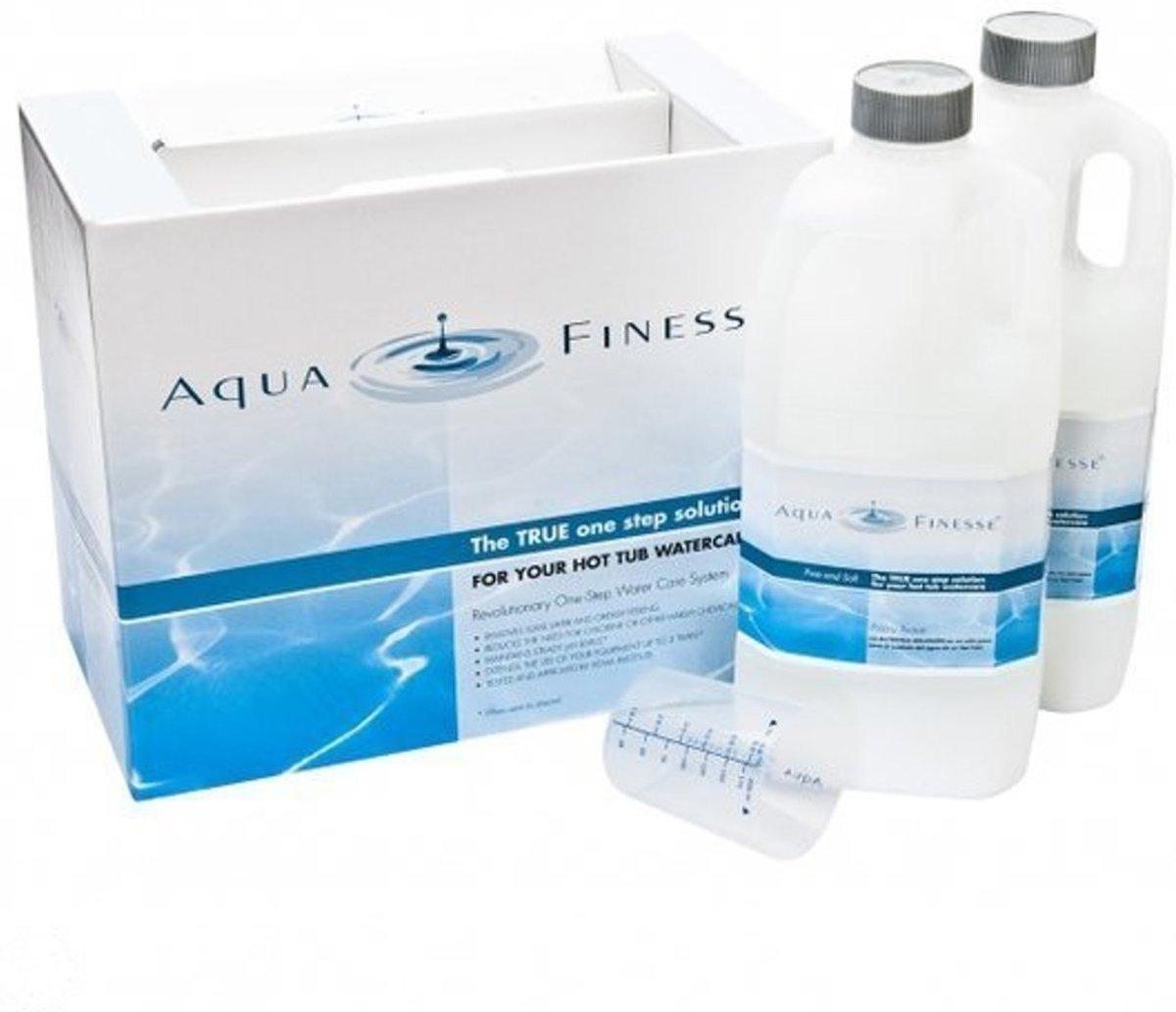 Aquafinesse Spa en Hottub waterbehandelingset met gratis drijvende bar + gratis verjaardagkaars