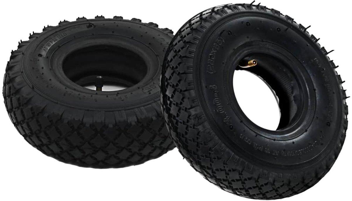 vidaXL Banden/binnenbanden voor steekwagens 3.00-4 260x85 rubber 2 st kopen