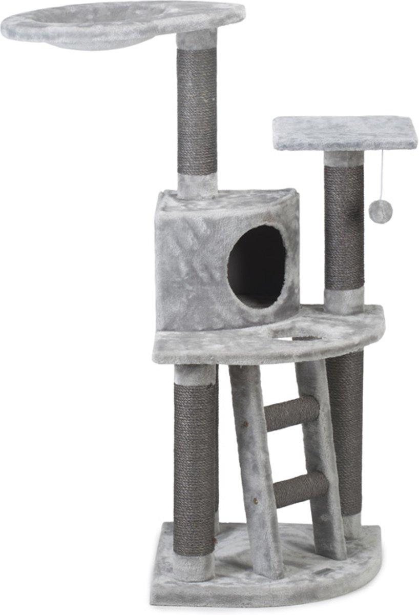 Beeztees Dominjo - Krabpaal - Grijs - 50x50x123 cm