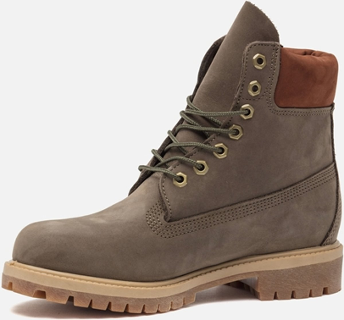 Timberland - 6 Bateau Premium - Chaussures De Marche Robustes - Hommes - Taille 44,5 - Vert - Waterbuck Cantine