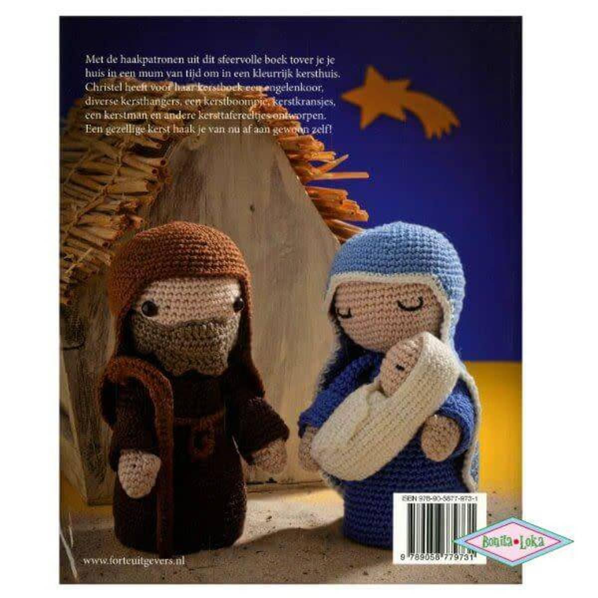 Bolcom Christels Kerstboek Haken Christel Krukkert