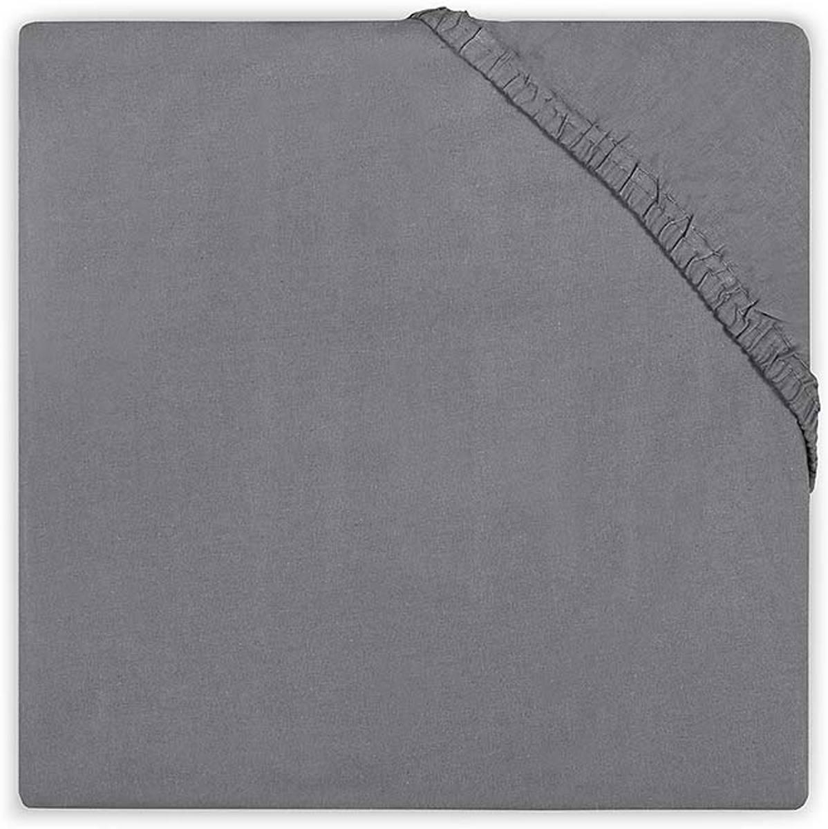 Hoeslaken katoen 70x140cm dark grey