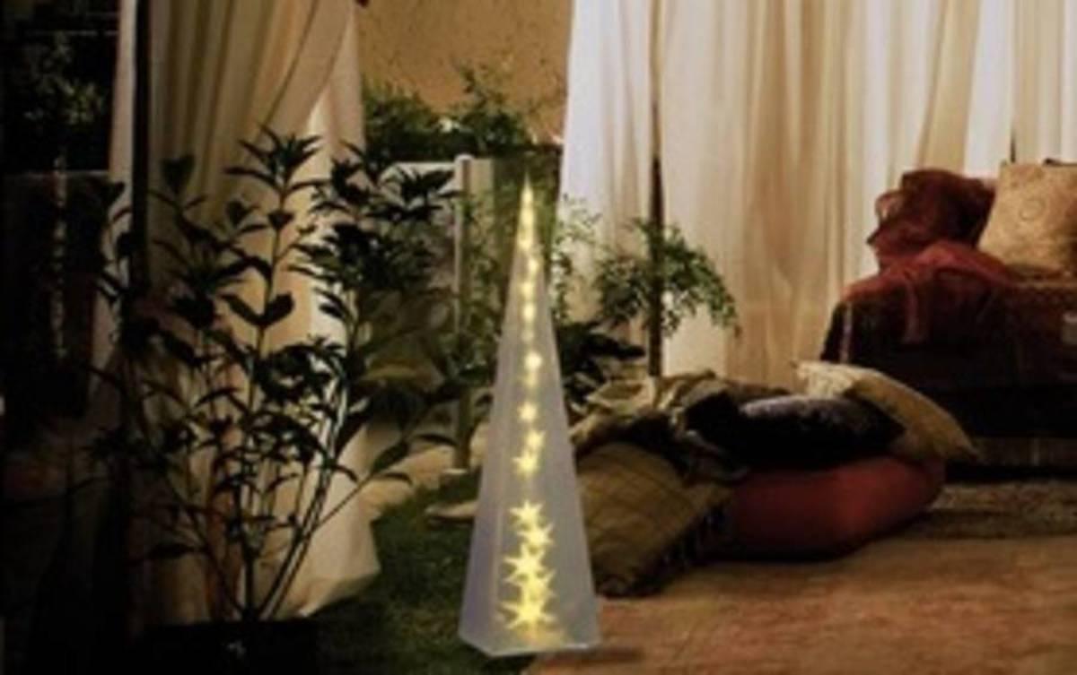 LED-kerstdecoratie Pyramide Warm-wit LED Transparant Polarlite PDE-04-002 kopen