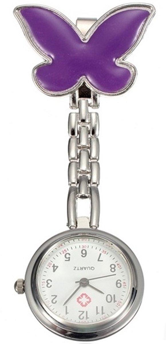 Verpleegster Horloge vlinder paars kopen