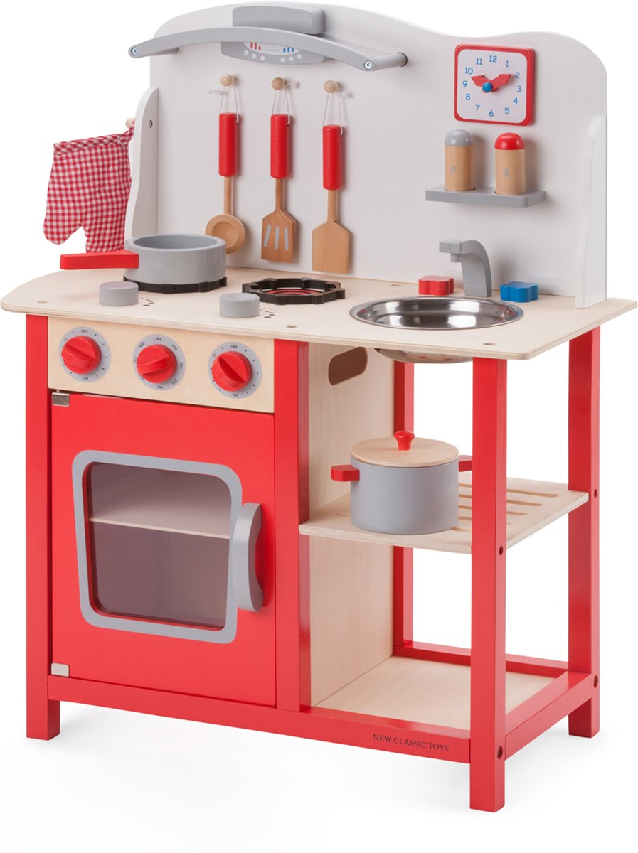 Fornuis Helemaal Hip : Bol.com houten speelgoedkeuken new classic toys new classic