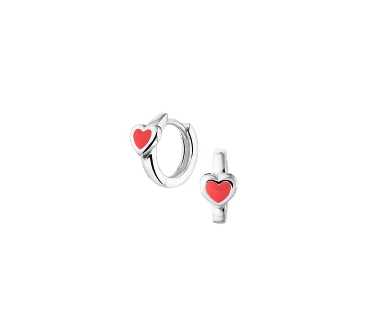 The Kids Jewelry Collection Klapoorringen Hart - kinderen - 925 Zilver kopen