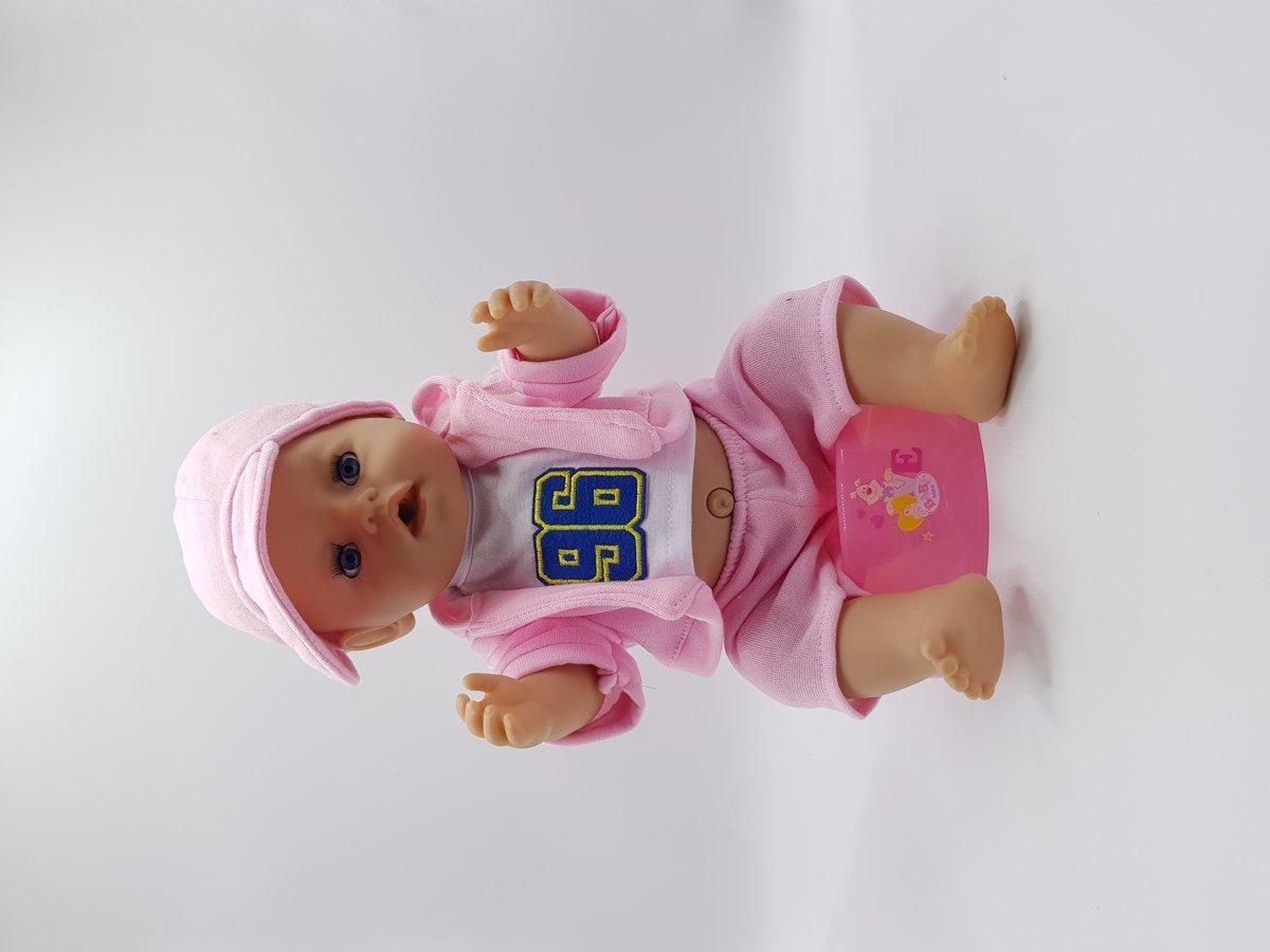 B-Merk Baby Born kleding, stoer roze pakje