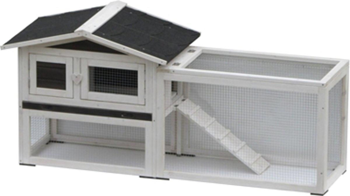 Konijnenhok Manou - 155x53x70 cm - Wit