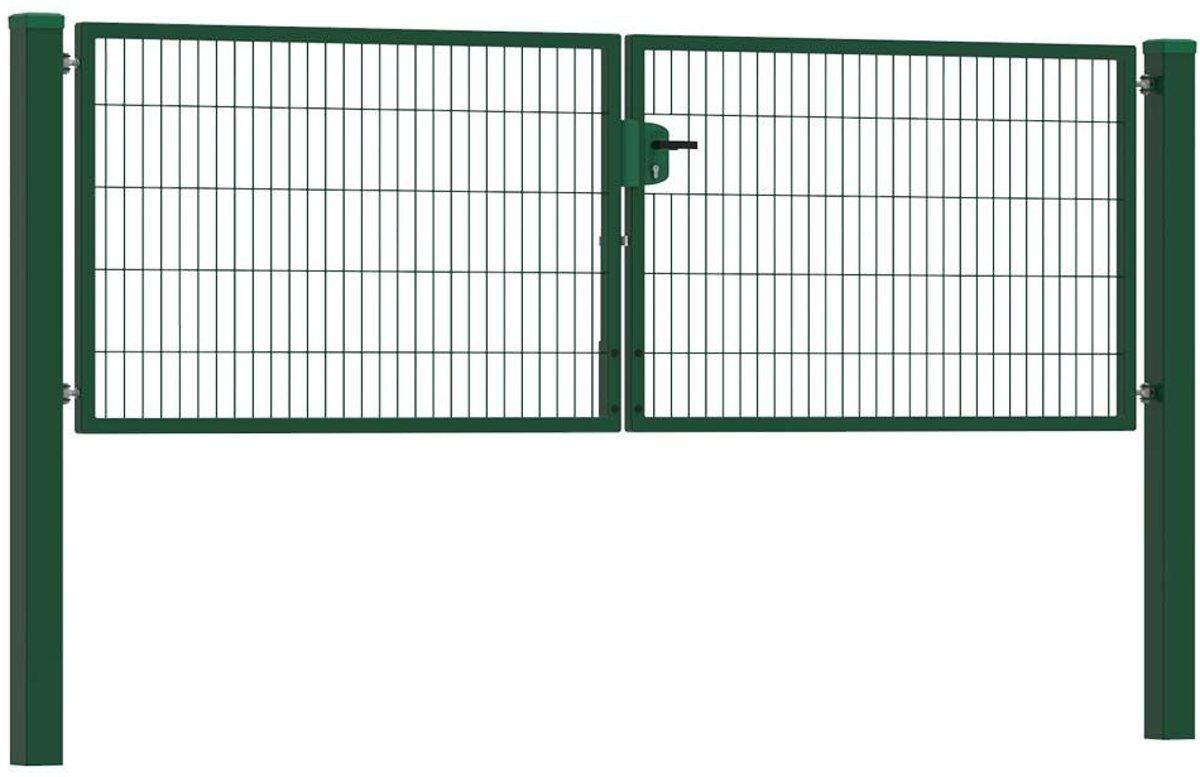 Dubbele tuinpoort 300 x 100 cm (bxh) Groen RAL6009 premium kopen