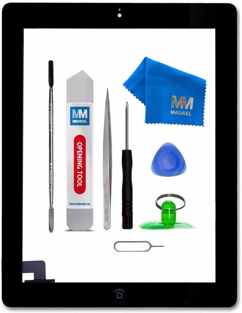 MMOBIEL Digitizer touchscreen glas voor iPad 2 Zwart inclusief voorgemonteerde home button en camera lens houder. Nu met voorgemonteerd dubbelzijdig tape, frame bezel, een professionele toolkit en een stap voor stap handleiding. kopen