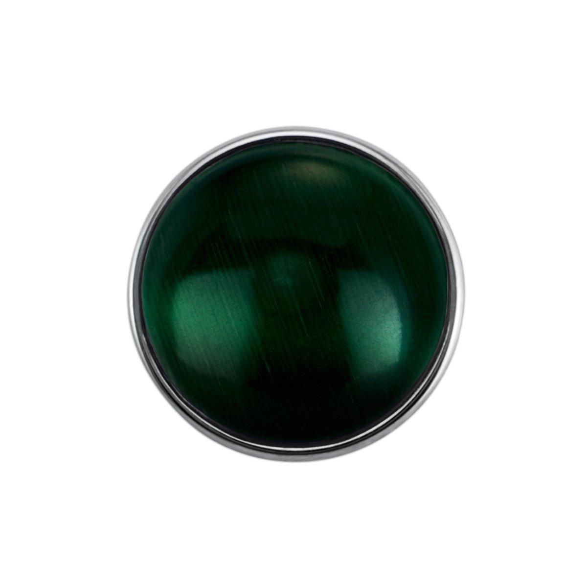 Quiges - Drukknoop Mini 12mm Cateye Donkergroen - EBCMK026 kopen