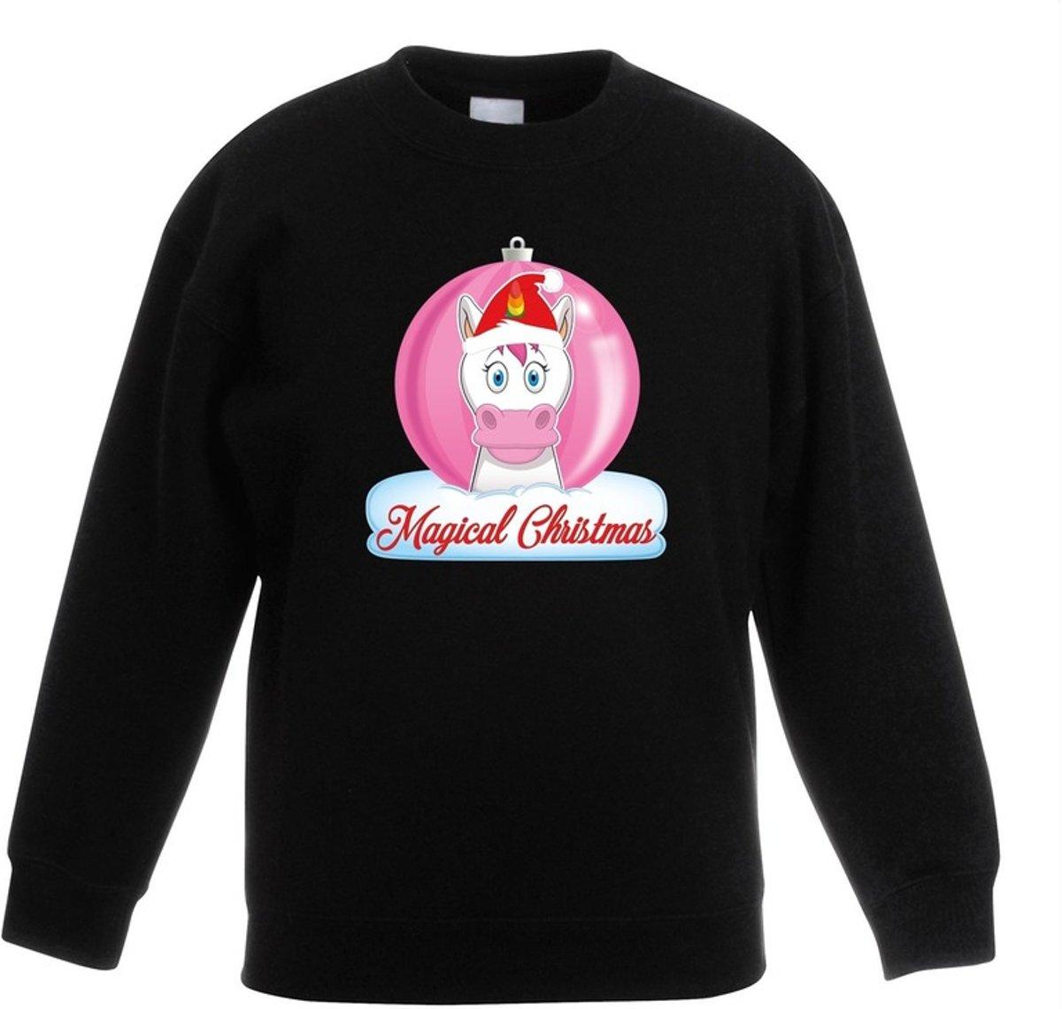 Kersttrui met roze eenhoorn kerstbal zwart voor meisjes 12-13 jaar (152/164) kopen