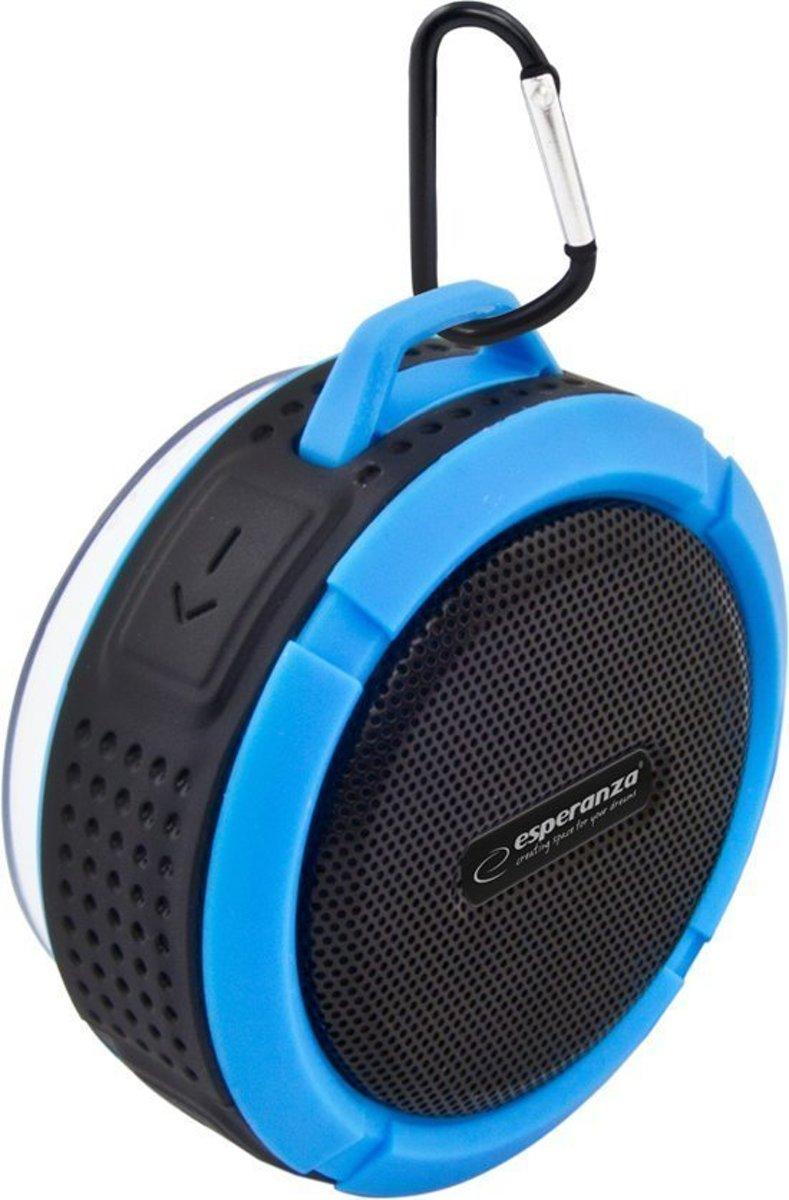 Bluetooth Speaker Waterproof Mini voor Douche, Ingebouwde Mic, Hands-free Bellen Auto – Blauw Zwart kopen
