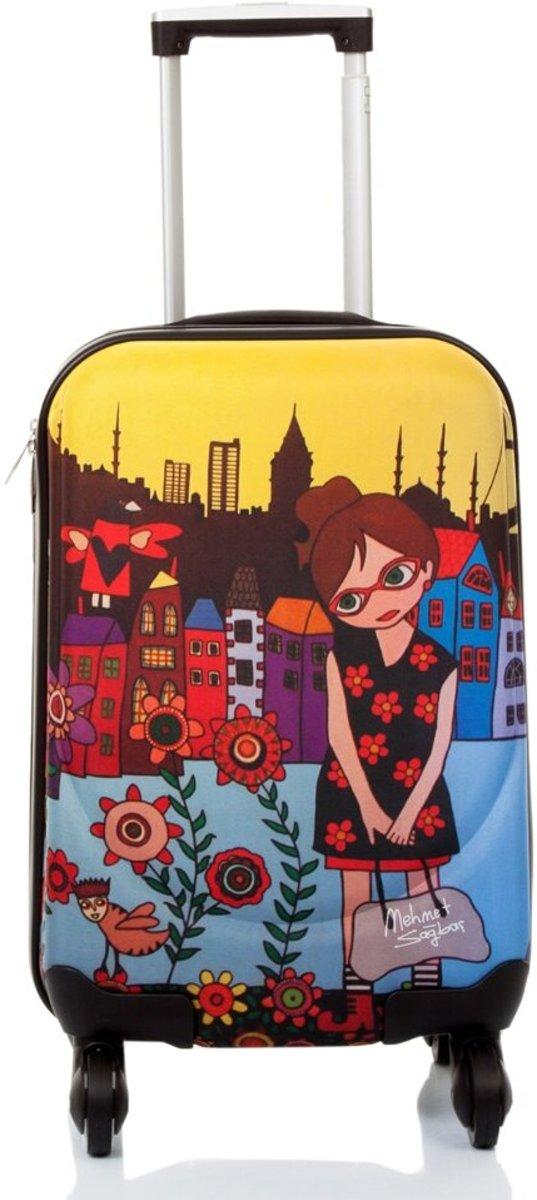 """Biggdesign Artiest Ontworpen 'Bloemen Meisje' Canvas Bagage 18"""" kopen"""