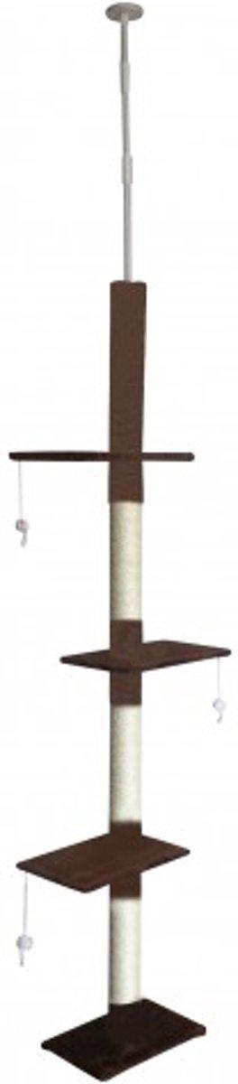 Topmast Krabpaal JAMBO bruin | Plafondhoog | 43 * 27 * 225-265 cm