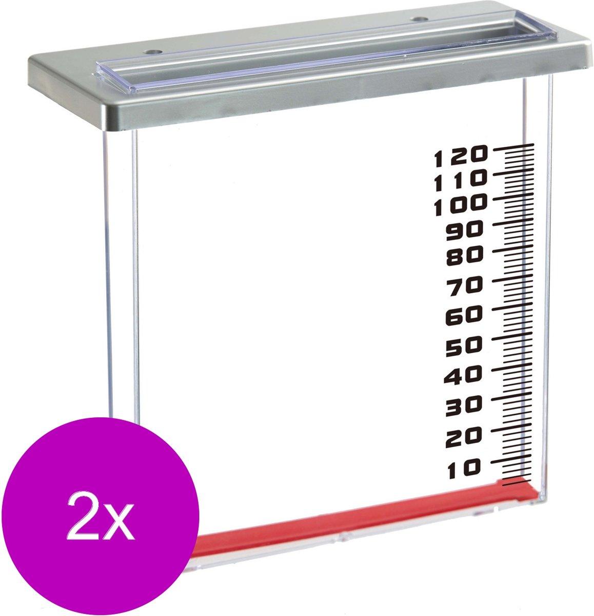 Nature Regenmeter Voor Balkon - Regenmeter - 2 x Transparant kopen