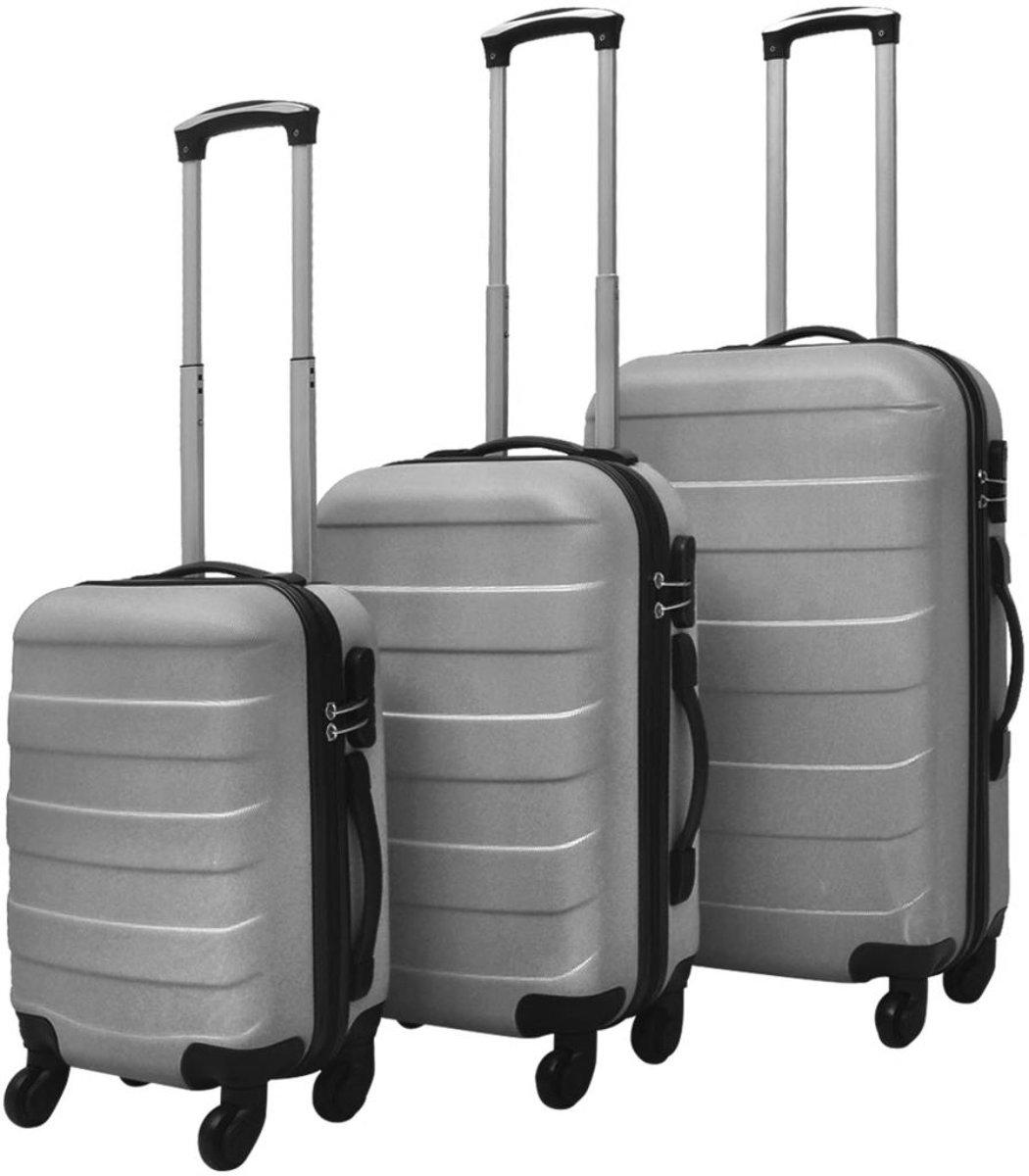 Kofferset - 3-delig - zwart - Hardcase - Biko kopen