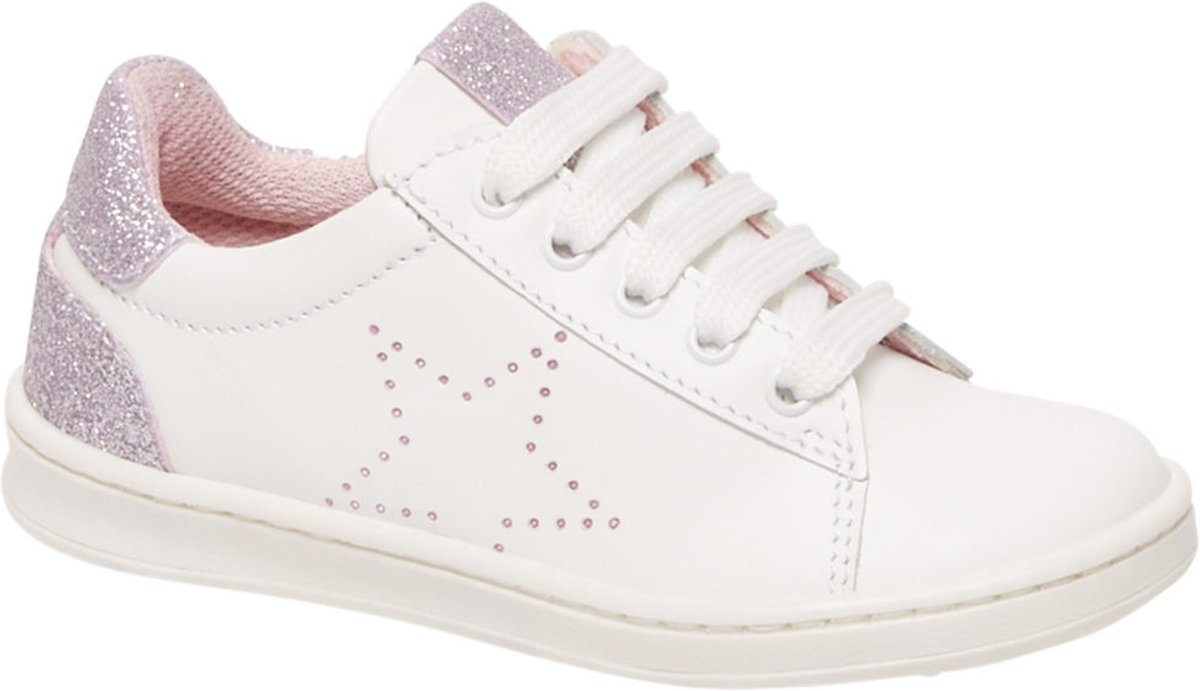 Cupcake Couture Kinderen Witte leren sneaker glitters - Maat 27 kopen