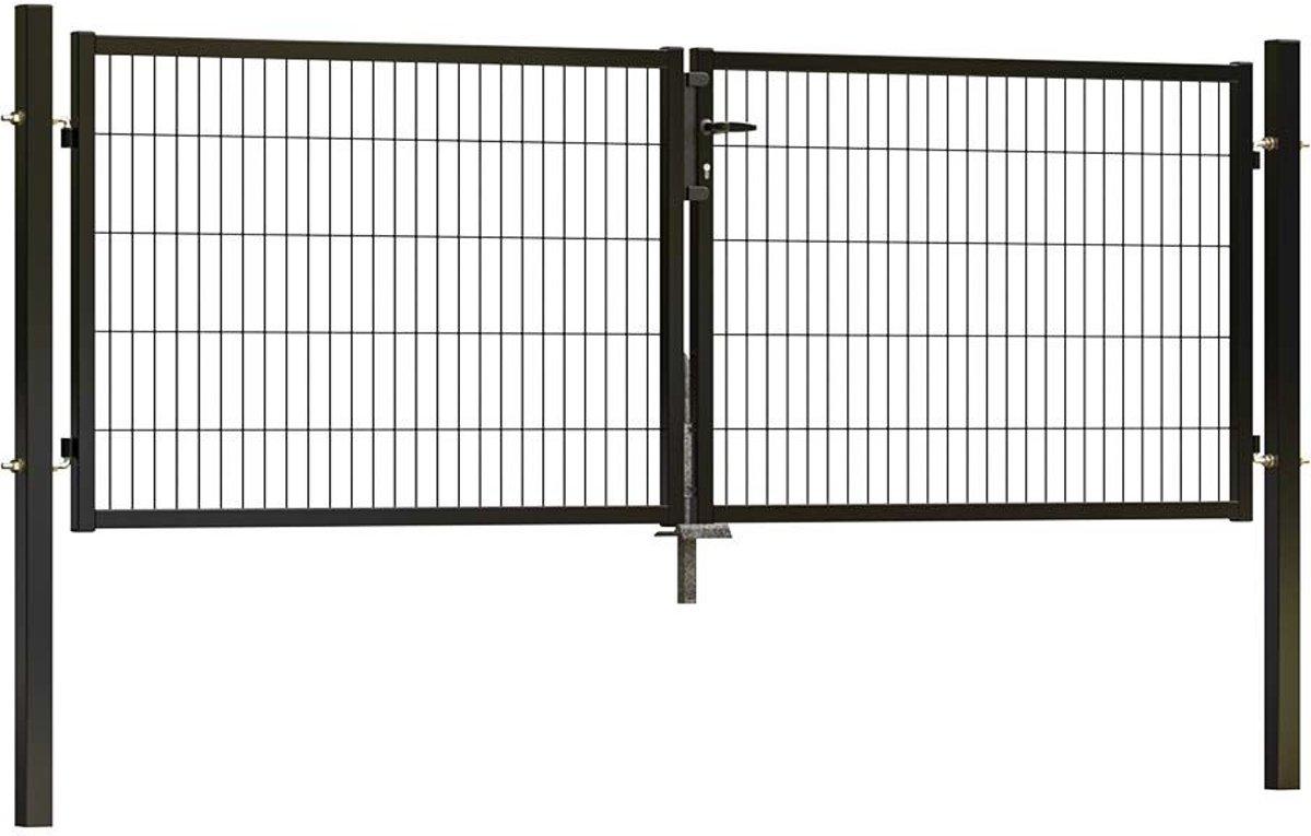 Dubbele tuinpoort ECO 300 x 100 cm (bxh) Zwart RAL9005 kopen