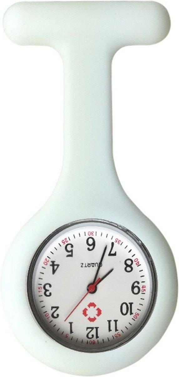Fako Bijoux® - Verpleegstershorloge - Siliconen RVS Uni - Wit kopen