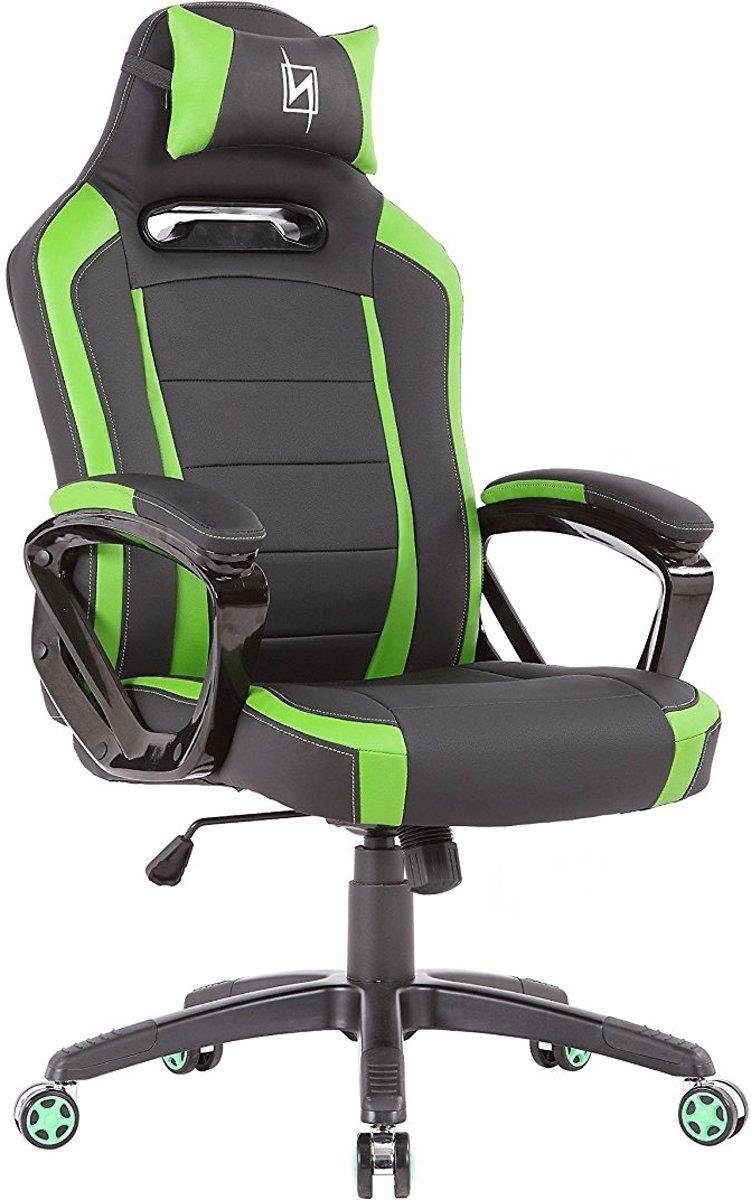 N. Seat Pro 300 Gaming Race / bureaustoel - Groen/Zwart