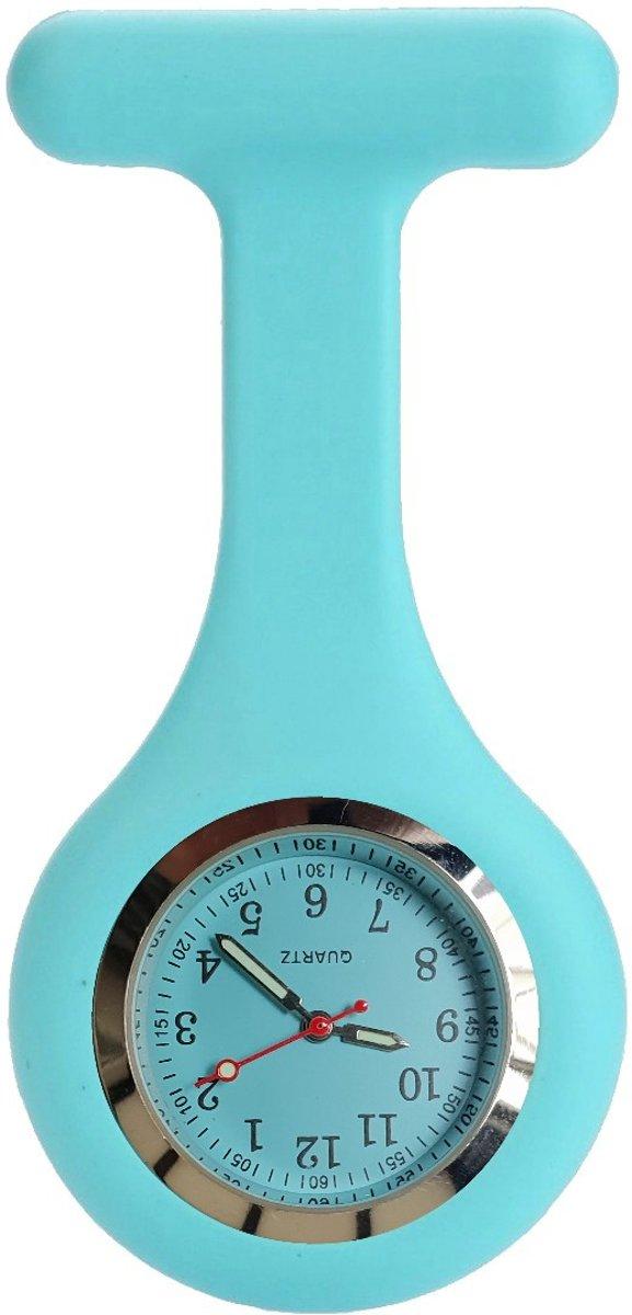 Fako Bijoux® - Verpleegstershorloge - Siliconen Deluxe - Aqua kopen