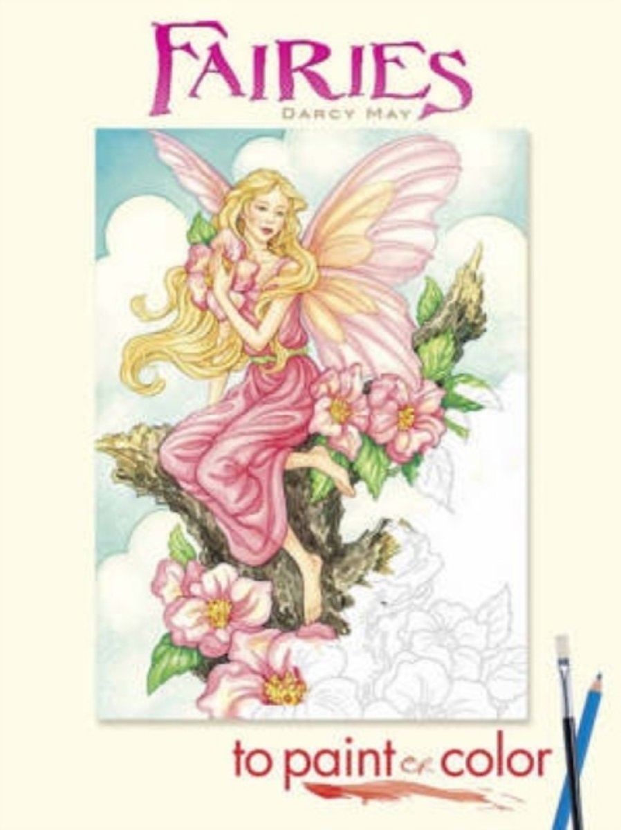 Kleurplaten Abc Elfjes.Bol Com Fairies To Paint Or Color Darcy May