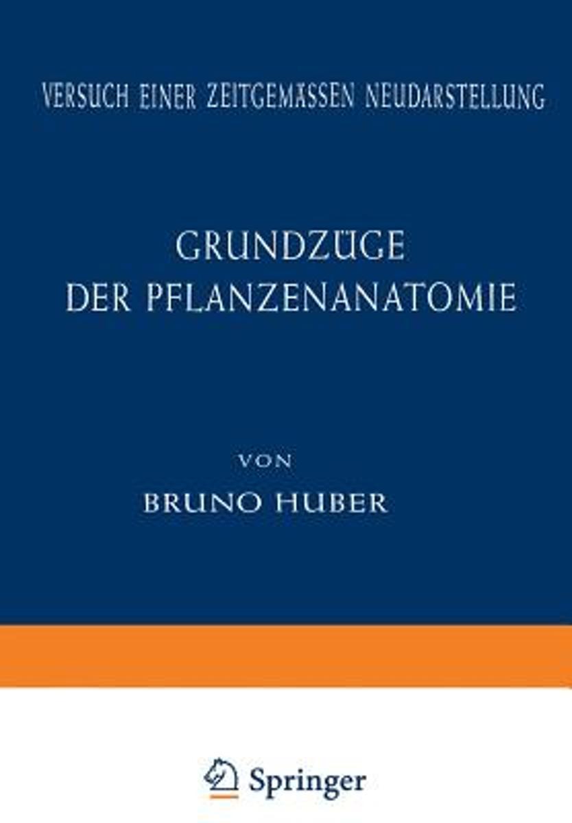bol.com | Grundz ge Der Pflanzenanatomie | 9783642869143 | Bruno ...