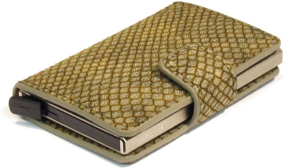 15992d6d5b5 Figuretta creditcardhouder- RFID- pasjeshouder- PU-leder-Snake-print -  groen ...