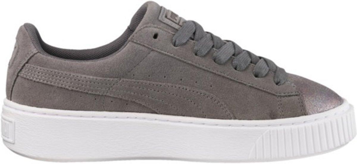 Puma Sneakers Suede Platform Lunar Lux Dames Grijs Maat 40