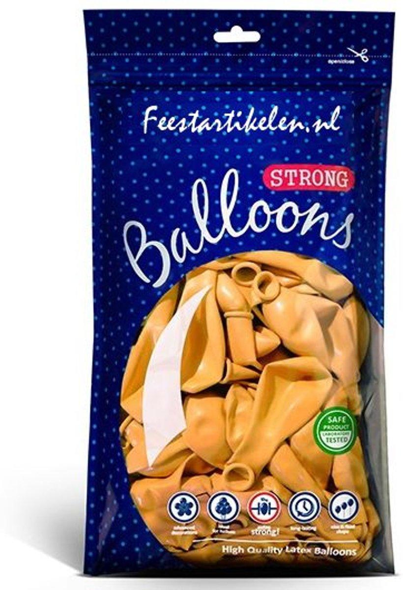 Ballonnen donkergeel 100 stuks