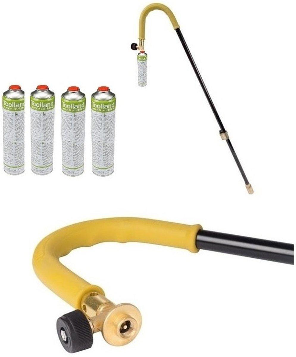 Onkruidverdelger / onkruidbrander op gas - incl 4 butaangas bussen  - 87 cm - gasbranders kopen