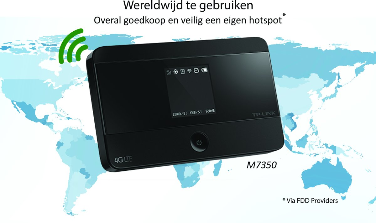 Tp Link M7350 Mifi Router 4g Lte Advanced Mobile Wifi
