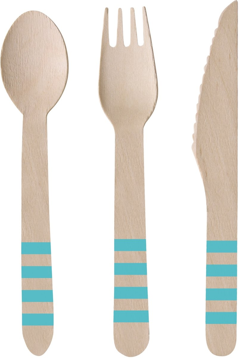 24 Wooden Cutlery Pineapple Vibes kopen