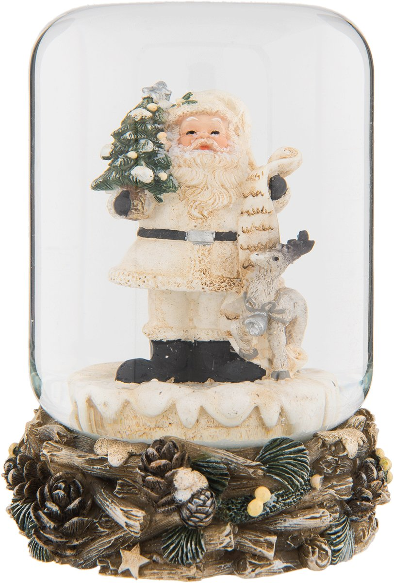 Clayre & Eef Sneeuwbol kerstman Ø 8x10 cm kopen