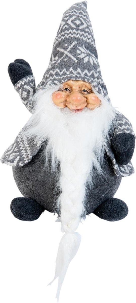 Kerstman 20*20*35 cm Grijs   TW0398   Clayre & Eef kopen