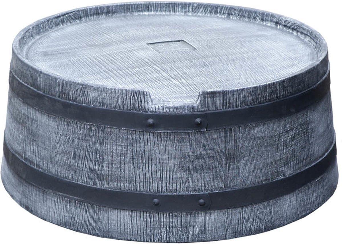 Roto voet voor regenton 350 liter kunststof houtlook grijs kopen