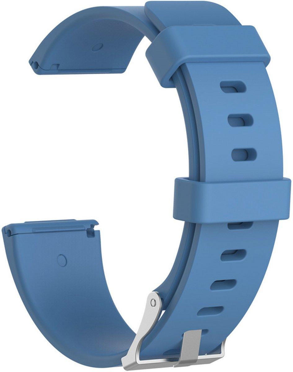Siliconen armband bandtje polsband voor Fitbit Versa - Kleur - Blauw, Maat - L (Large) kopen