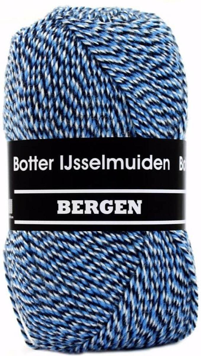 Bergen blauw gemeleerd 82 - Botter IJsselmuiden PAK MET 10 BOLLEN a 100 GRAM. PARTIJ 162463. INCL. Gratis Digitale vinger haak en brei toerenteller