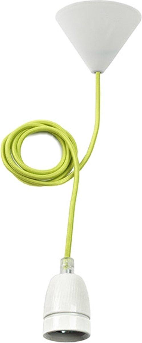 Pendel met E27 fitting - Met nylon kabel - Groen kopen